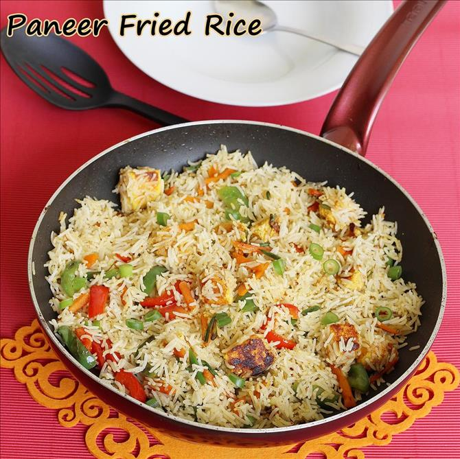 spicy indian style paneer fried rice2