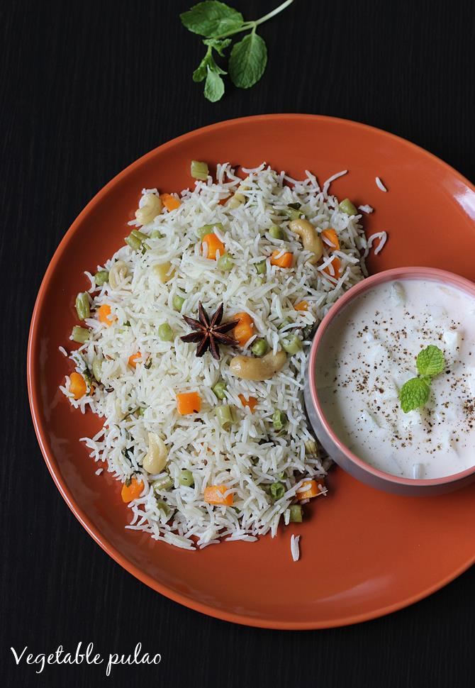 Coconut Milk Pulao Recipe How To Make Veg Pulao With