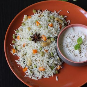 Coconut milk pulao recipe | How to make veg pulao with coconut milk