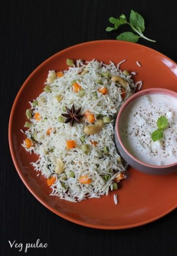 Coconut milk pulao recipe | How to make veg pulao with coconut milk