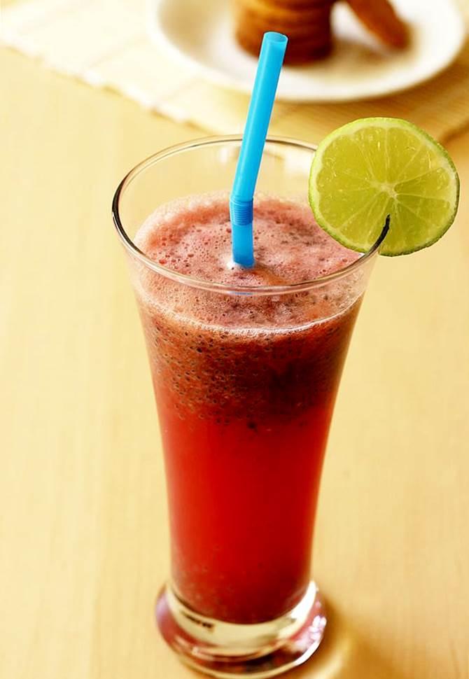 watermelon sabja drink