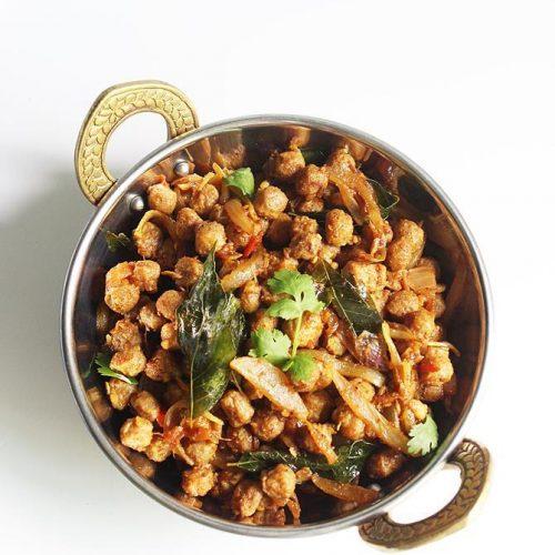soya chunks fry recipe