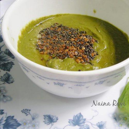 Spinach chutney   palakura pachadi   palak chutney