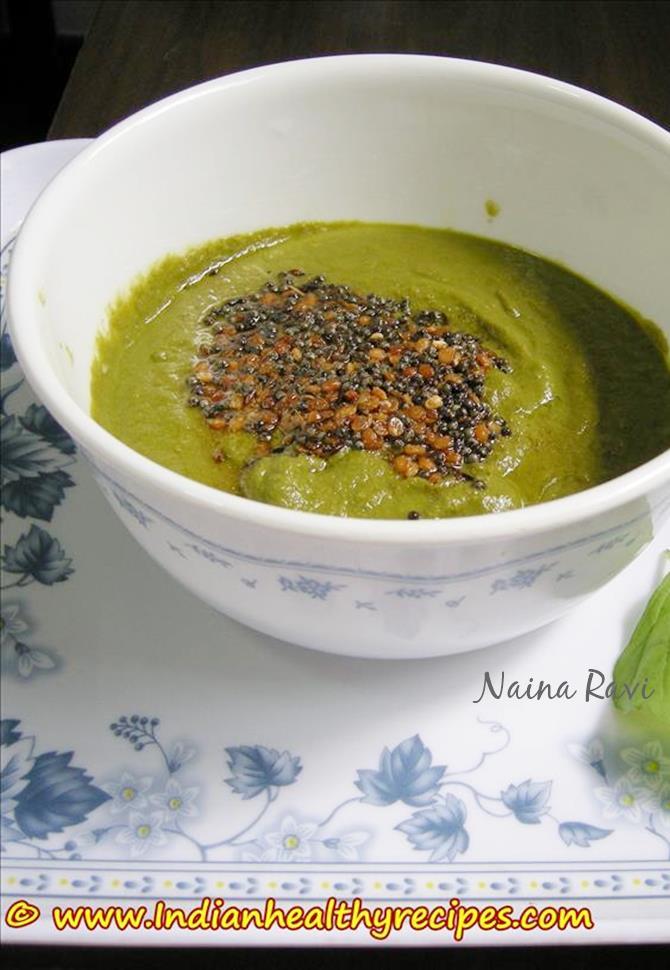 spinach chutney palak chutney