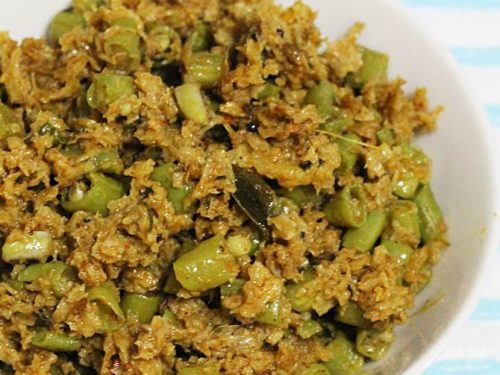 soya kheema beans curry
