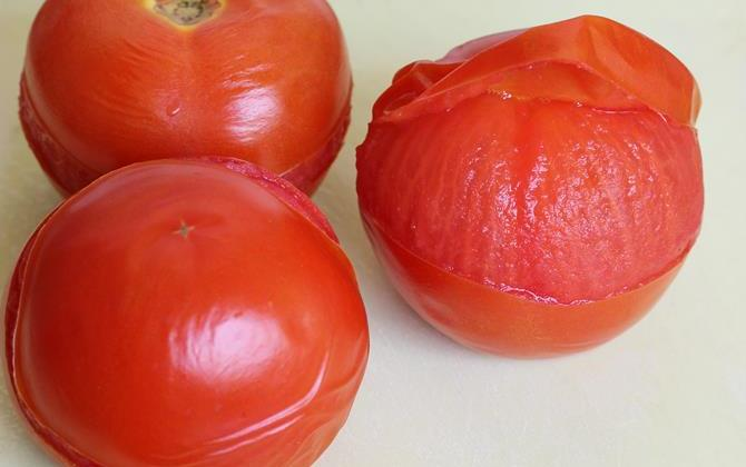 peeling skin chopping veggies for tomato curry recipe
