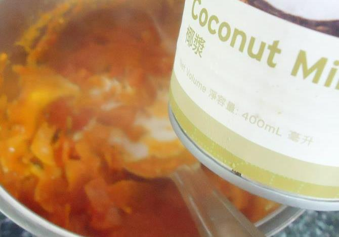 addition of coconut milk