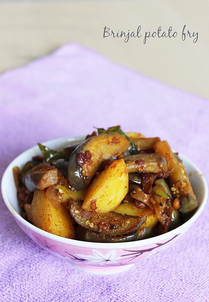 vankaya fry or brinjal fry recipe is ready