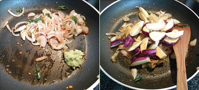 addition of salt for brinjal fry recipe