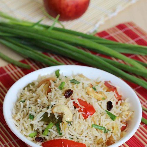 apple fried rice recipe