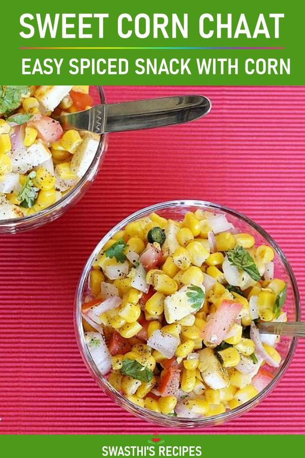 Corn chaat recipe | Sweet corn chaat | Sweet corn recipes