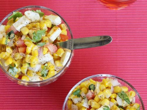 corn chat recipe