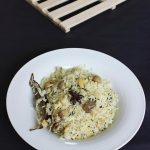 mushroom pulao recipe – mushroom rice recipe