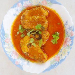 Fish pulusu recipe | Andhra style fish pulusu recipe | Fish gravy with tamarind