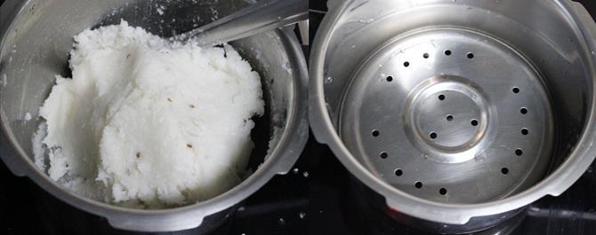 boil water to steam kobbari kudumulu
