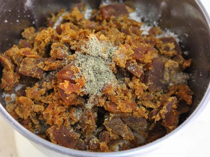 blend jaggery for almond laddu