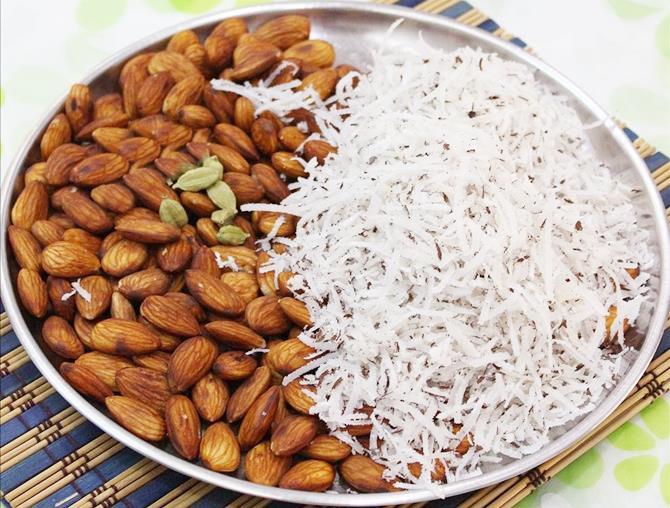 ingredients to make badam laddu