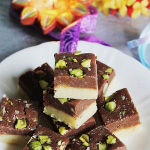 chocolate khoya burfi recipe