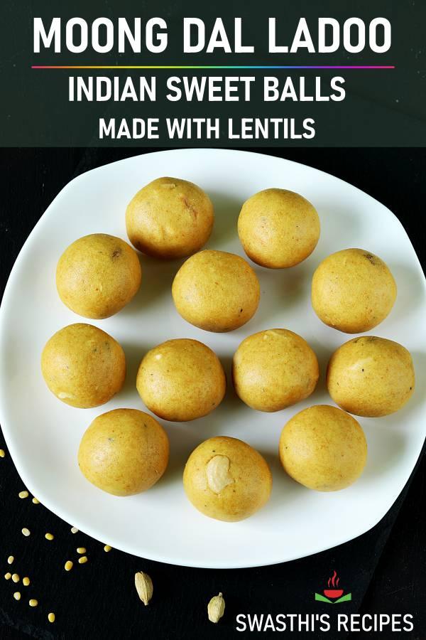 Moong dal ladoo recipe | How to make moong dal laddu