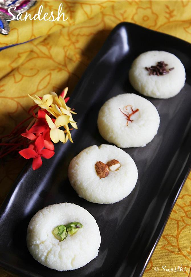 pista badam sandesh recipe
