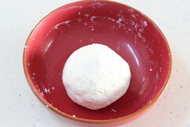 kneading paneer for rasmalai recipe