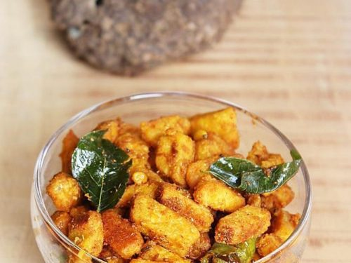 yam fry- roast recipe