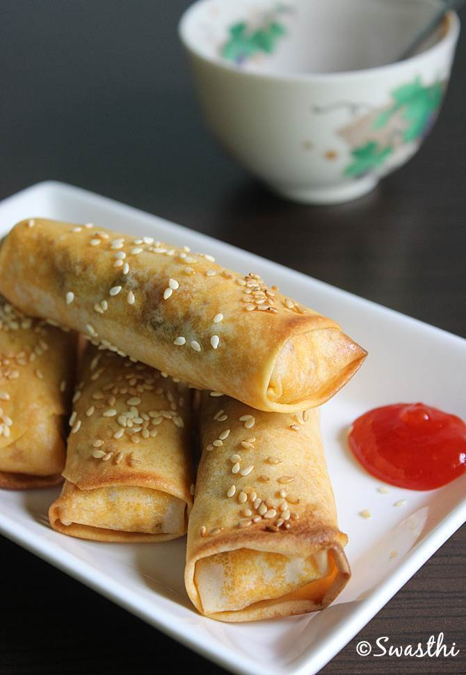 oven baked spring rolls recipe