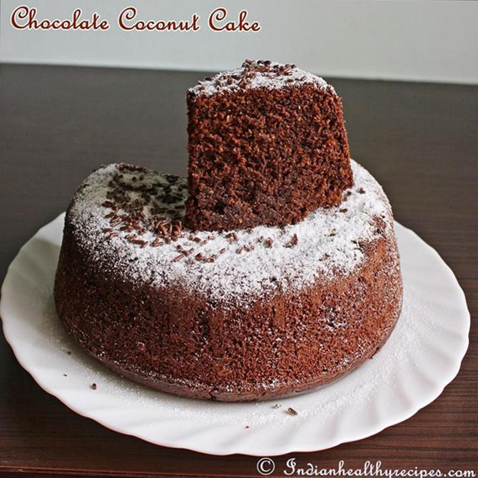 powdered sugar and sprinkles for chocolate coconut cake recipe