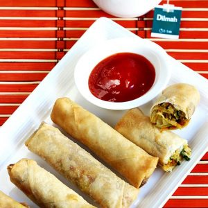 Spring rolls recipe | How to make vegetable spring roll recipe