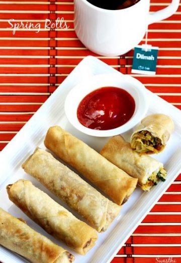Spring rolls recipe | Vegetable spring rolls recipe