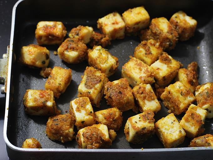 golden roasted paneer amritsari