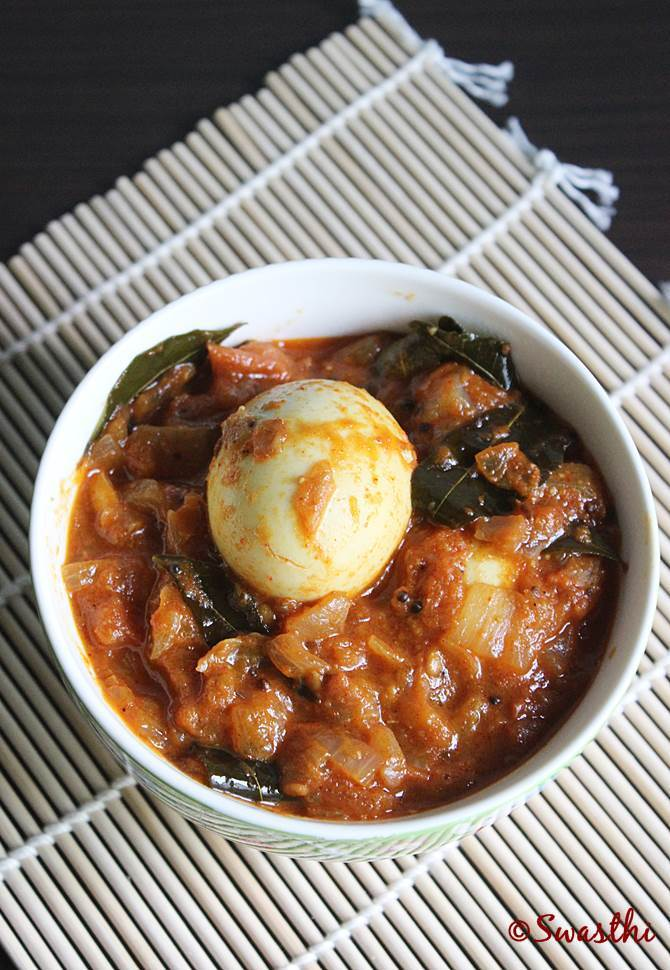 andhra tomato egg curry recipe