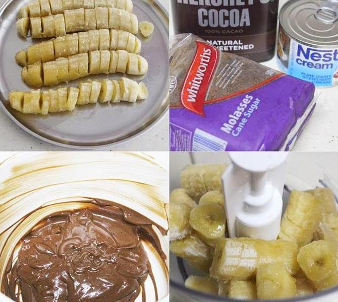 Chocolate banana ice cream chocolate banana popsicles chocolate banana ice cream recipe 1 ccuart Image collections