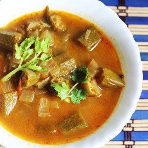 bendakaya pulusu recipe , okra in tamarind gravy