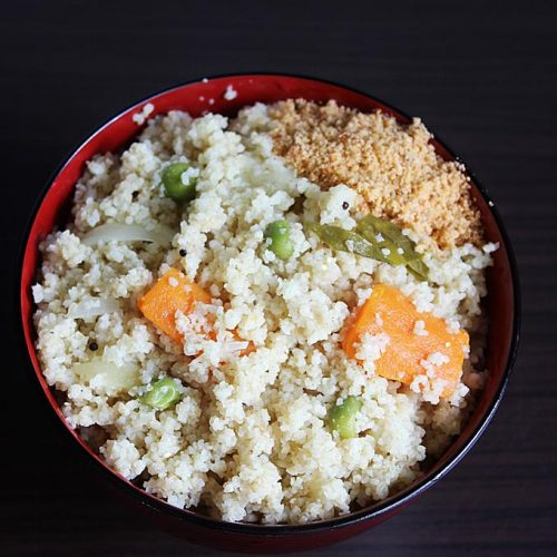 Broken wheat upma |  Dalia upma recipe