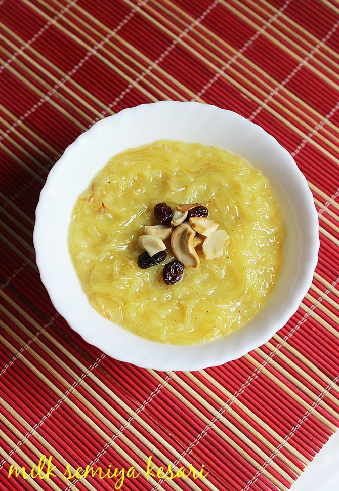 semiya kesari recipe with milk