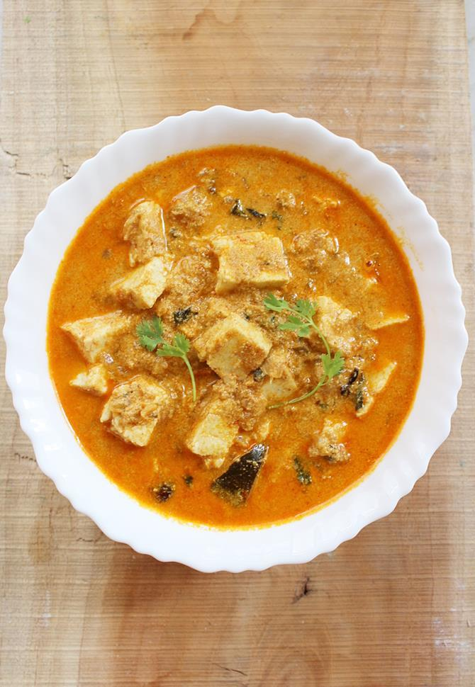 south indian paneer korma recipe swasthis recipes
