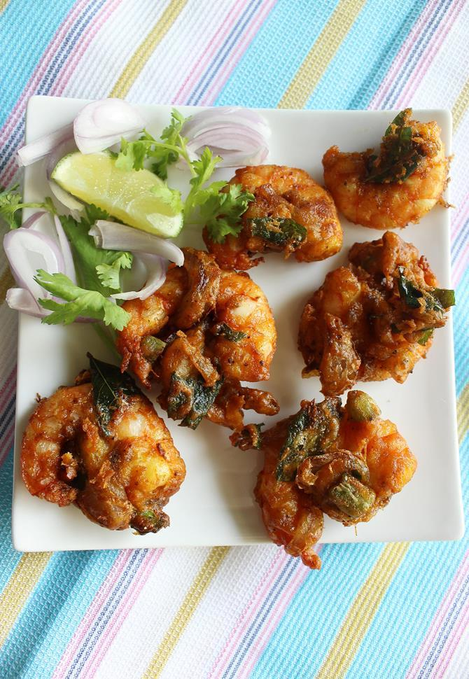 double frying for prawn fritters recipe