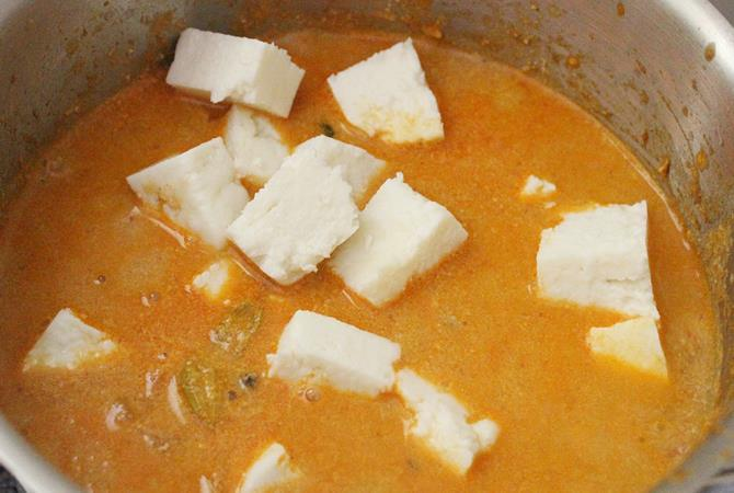 step by step pictures on paneer korma recipe