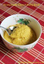 carrot baby food recipe