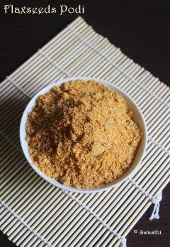 flax seeds podi recipe   flax seeds chutney powder recipe