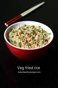 Veg Fried Rice Recipe Video How To Make Vegetable Fried Rice Recipe