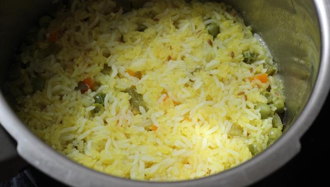 cooked vegetables in pan khichdi recipe for toddlers