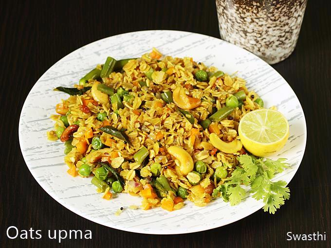 how to make vegetable oats upma