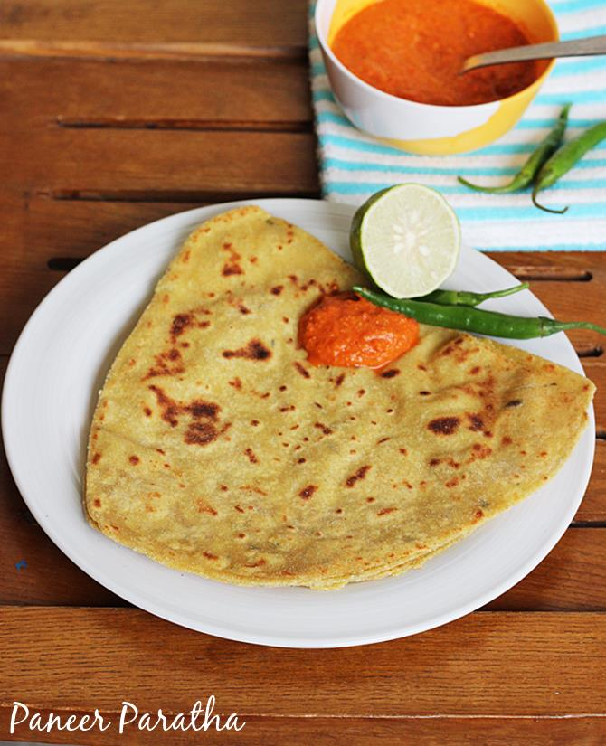 paneer paratha recipe for kids