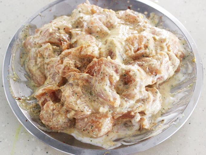 resting marinade overnight to make butter chicken
