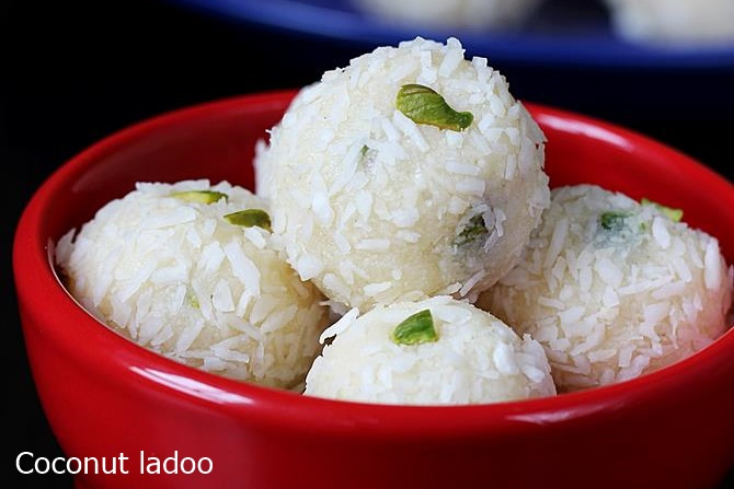 condensed milk coconut ladoo