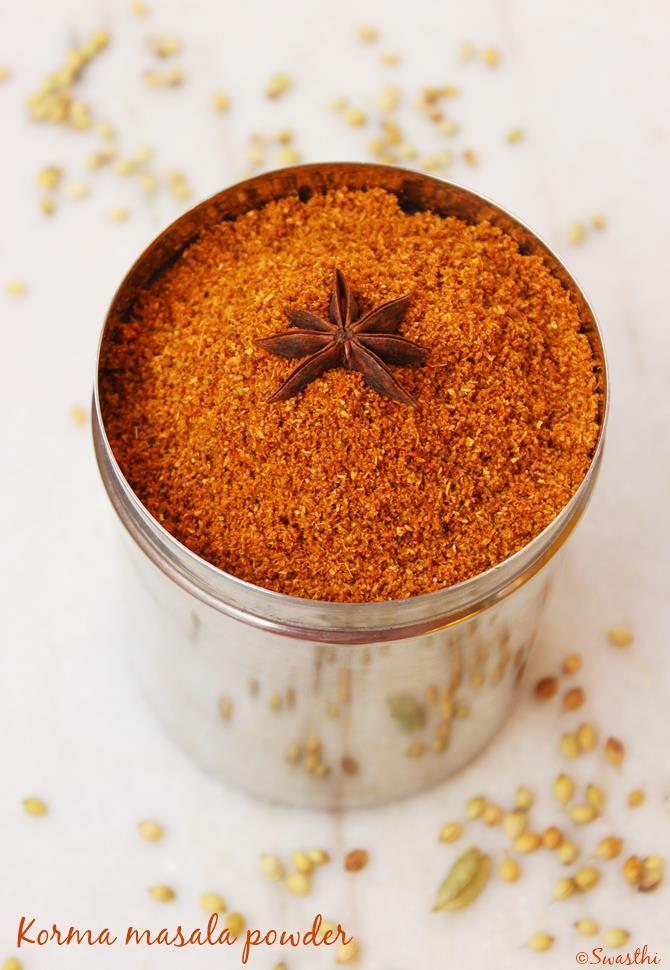 korma masala powder recipe