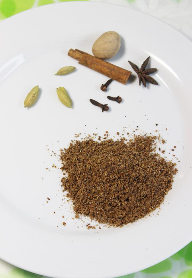 making masala tea powder to make masala chai