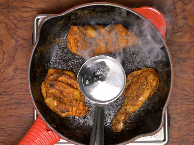 smoking tandoori chicken